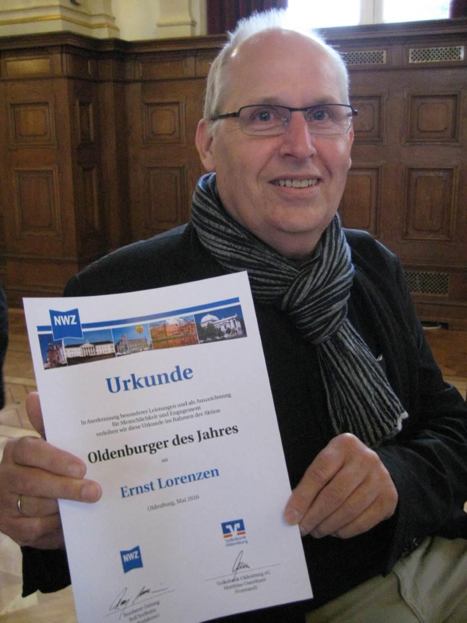 Ernst Lorenzen ausgezeichnet